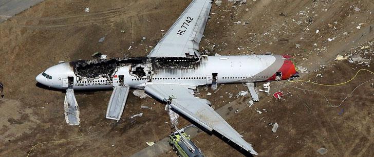 La chance de survivre à un crash d'avion est de 95,7% !