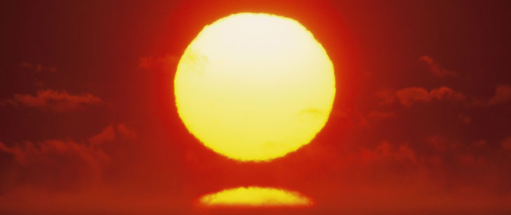 The sun loses four million metric tons of its mass every second!