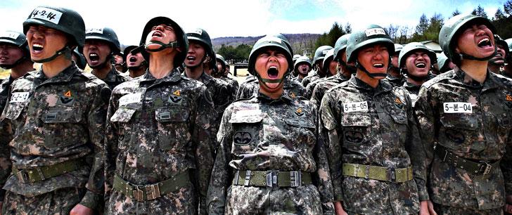 En Corée du Sud, les personnes qui gagnent une médaille olympique évitent le service militaire !