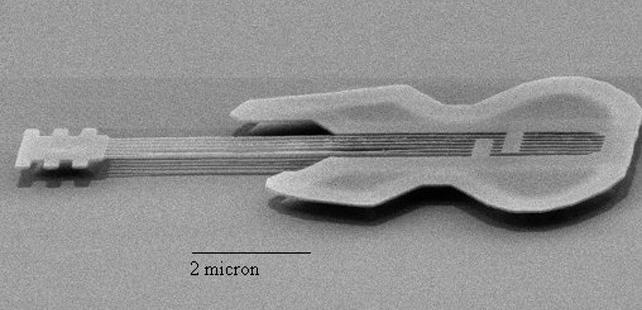 La plus petite guitare du monde a la taille d'un globule rouge !
