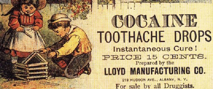 Au 19ème siècle, la cocaïne était utilisée pour traiter la dépression et les maux de dents !