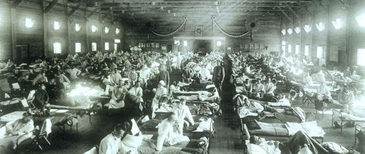 La grippe espagnole de 1918 a tué plus de gens en 24 semaines que le sida en 24 ans !