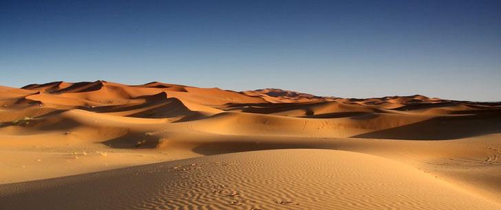 Seulement 20% du Sahara est recouvert de sable !
