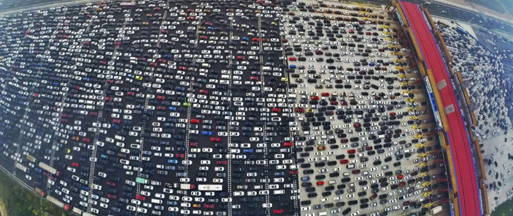 En 2010, il y a eu un embouteillage de 12 jours à Pékin !