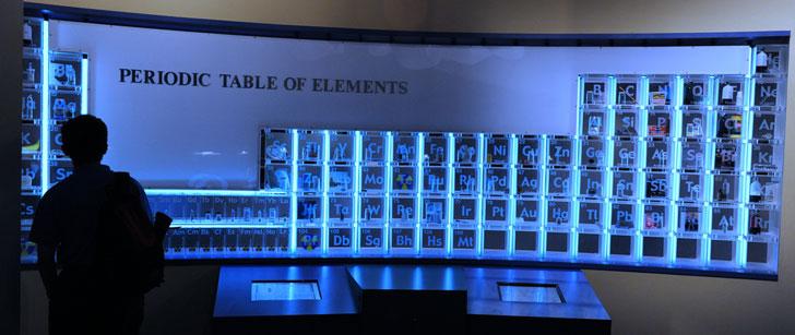 le plus petit tableau périodique des éléments a été gravé sur un cheveu humain !