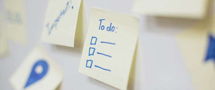 Seulement 41% de ce qui est noté dans les listes de choses à faire sont réellement faits !
