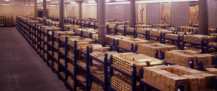Le saviez-vous?Le plus grand coffre d'or dans le monde ! Coffre-or